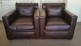 Brown Leather Chairs in Yucca Valley, California