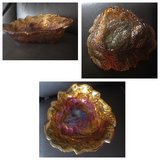 Vintage carnival glass dish, marigold berries in Chicago, Illinois