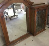 Mirror and Curio cabinet top for a dresser. in Alamogordo, New Mexico