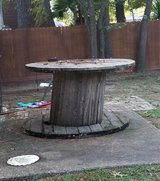Bar stool table top wire spool outdoor bbq drinking in Kingwood, Texas