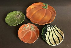 Pumpkin & Gourds Serving Plates for Fall Autumn Thanksgiving Home Decor in Westmont, Illinois