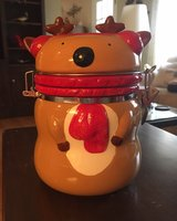 Ceramic Reindeer Jar in Shorewood, Illinois
