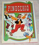 Vintage 1980 Pinocchio An Award Classic Fairy Tale Hard Cover Childrens Book in Joliet, Illinois