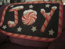 J O Y Snow-Covered Letters Christmas Door Mat in Fort Lewis, Washington