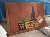 Feelin' Witchy on a Halloween Night Door Mat in Fort Lewis, Washington