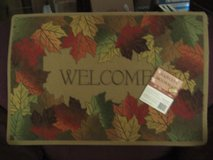 WELCOME - Maple Leaf Framed Door Mat in Fort Lewis, Washington