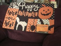 Happy Halloween Poke-O-Dots Trick or Treat Door Mat in Fort Lewis, Washington