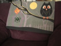 Orange Moon, Spider, and Owl on a Tree Branch Door Mat in Fort Lewis, Washington
