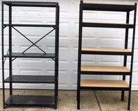 Gray -OR- Black Metal Shelf - 5 adj height Shelves - 3ft W x 6ft H in Westmont, Illinois
