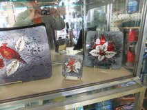 Huge Selection Cozenza Hand Painted Art Glass @ New Berne Antiques in Cherry Point, North Carolina