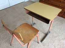 Vintage school desk and chair in Naperville, Illinois