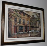 """Framed Painting Print """"Colleen's Pub"""" in Fort Campbell, Kentucky"""