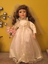 Vintage Bride porcelain doll 16'' approx in Naperville, Illinois