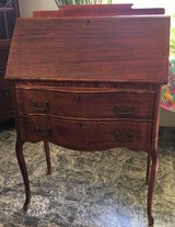 Antique desk , Tiger Eye Oak, Dove Tail in Yucca Valley, California