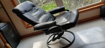 Leather Chrome Reclining Chair in Plainfield, Illinois