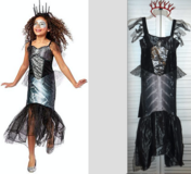 Skeleton Mermaid Sea Witch - Ch Size: Medium (8 - 10) - Dress Up / Halloween Costume in Westmont, Illinois