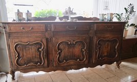 ornate French oak buffet in Spangdahlem, Germany