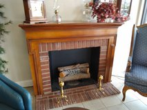 Fireplace Mantle with Electric Logs in Naperville, Illinois