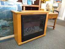 """Heat Surge"" Rolling Fireplace/Heater Amish Cabinet in Naperville, Illinois"