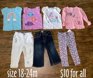 toddler girl shirts/pants ~ size 18-24m in Kingwood, Texas