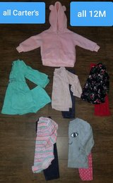 Carter's baby girl lot ~ size 12M in Houston, Texas