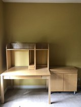 IKEA desk and cabinet- like new in Plainfield, Illinois