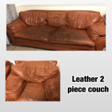 Brown Leather Couch in Hinesville, Georgia