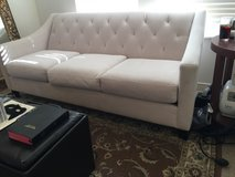 "Contemporary Suede Couch 74""L - Off-White XLNT COND. in 29 Palms, California"