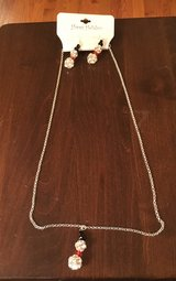 Snowman Necklace & Wire Earrings in Naperville, Illinois