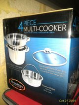 BNIB ExcelSteel 529 Muti-Cookware 4 Piece Set With Encapsulated Base, Silver in Ramstein, Germany