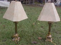 Pair of solid brass lamps in Moody AFB, Georgia