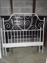 Full size white metal bed in Quantico, Virginia
