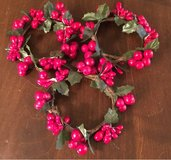 Faux Berry Wreaths/Candle Rings in Joliet, Illinois