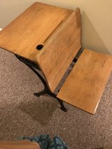 Antique school desk in Joliet, Illinois