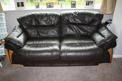 3 seater sofa, 2 Armchairs and large poufee in Lakenheath, UK