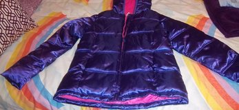 New women's  purple polyester jacket with hood and lining. in Alamogordo, New Mexico