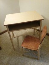 Vintage child's school desk and chair. in Joliet, Illinois