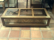 Coffee table with smoked glass inserts in Alamogordo, New Mexico