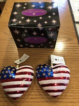 """New Christopher Radko """"Brave Heart"""" Patriotic Heart Ornament for American Red Cross in Chicago, Illinois"""