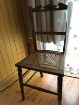 Antique chair with wicker seat in Okinawa, Japan