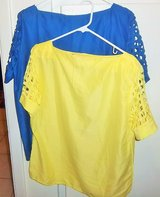 New women's blouses  extra large in blue &  yelow in Alamogordo, New Mexico