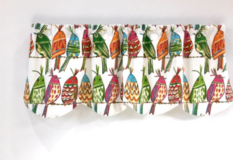 Window Valance Birds White / Lined NEW Custom Made in Kingwood, Texas