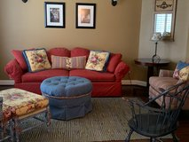 Colorful farmhouse 5-piece living room set from Calico Corners in Kingwood, Texas