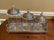 Southern Living at Home Astoria Glass Canisters with Windsor Tray in Tomball, Texas