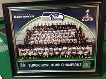*** Seahawks Super Bowl XLVIII Framed 8x10 Color Team Photo *** in Tacoma, Washington