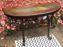 Iron, Stone, and Wood Hall Table in Naperville, Illinois