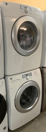 "GREAT WORKING ORDER KENMORE 27"" STACKABLE WASHER AND ELECTRIC DRYER (SET) in Bolling AFB, DC"