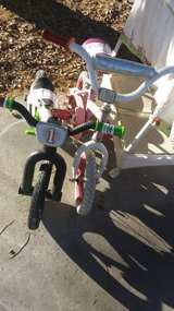 Pink/white kids bike in 29 Palms, California