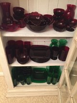 ROYAL RUBY RED & EMERALD GREEN DEPRESSION GLASS in Kingwood, Texas