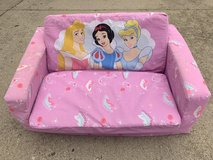 Disney Princess Futon Toddler Lounger Couch Chair in Batavia, Illinois